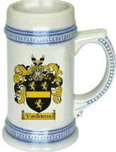 Vanackeren Coat of Arms Stein / Family Crest Tankard Mug - $21.99