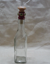Vintage Anchor Hocking Bottle with Wooden Stopper // Salad Dressing Bottle - $9.00