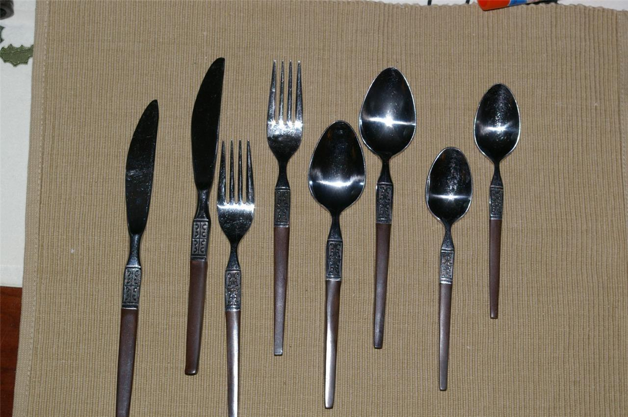 Primary image for Ekco LA JOYA Stainless Flatware 2 Place Settings ecko