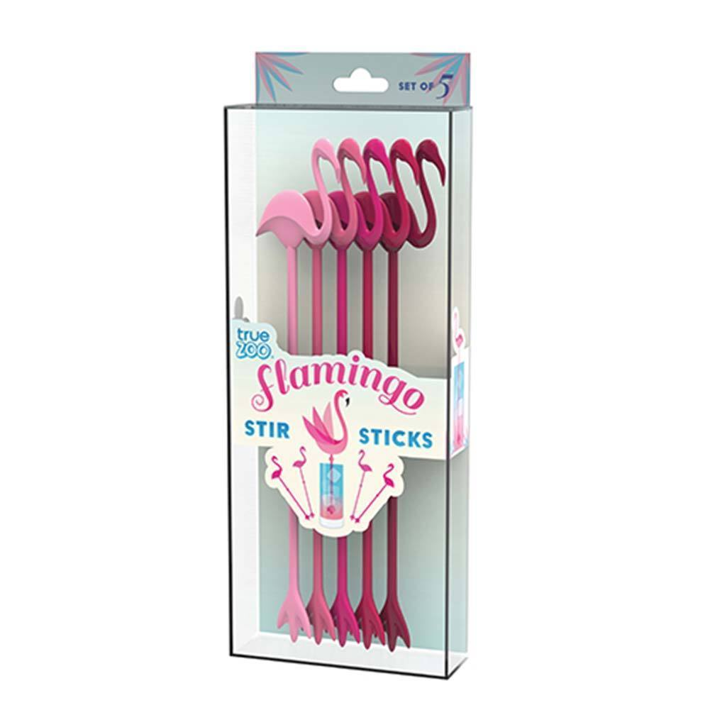 Flamingo Cocktail Drink Stir Sticks Set Pink