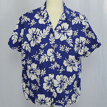 Hilo Hattie Men Hawaiia Camp Aloha Short Sleeve Shirt XL 100% Cotton EUC - $23.38