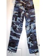 Size XS Regular Blue Camo B.D.U.Pants New with... - $19.99