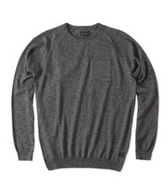 O'Neill PRESIDIO Mens Crew Neck 100% Cotton Sweater Black Medium  NEW - $27.25