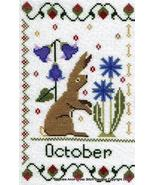 October Holmsey Hare Year Of The Hare cross stitch chart Stitchers Anon ... - $8.00
