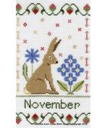 November Holmsey Hare Year Of The Hare cross stitch chart Stitchers Anon... - $8.00