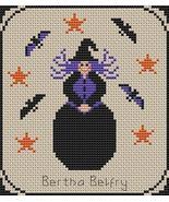Bertha Belfry Pt2 Coven of Year Halloween SAL cross stitch chart Stitche... - $7.00