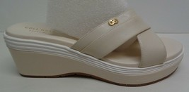 Cole Haan Size 8.5 M BRIELLA GRAND Beige Leather Wedge Sandals New Women... - $127.71