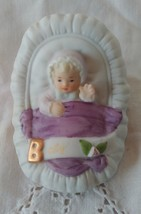 1983 Enesco Blonde Baby Growing Up Birthday Girl Figurine  - $7.95