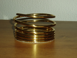PartyLite Brass Spiral Pillar- RETIRED- Party Lite - $6.99