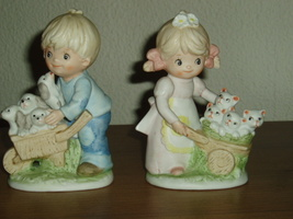 Homco Homco Boy and Girl Figurines 1402 Home Interiors - $11.99