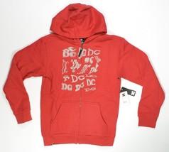 DC Shoes TIMESLICE Zip Hoodie Dark Red Medium B... - $28.80