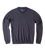 O'Neill NANTUCKET Mens V-Neck Cashmere Blend Sweater Charcoal Grey Mediu... - $44.75