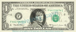 TOM WELLING Clark Kent Smallville on REAL Dollar Bill Cash Money Bank Note - $4.44