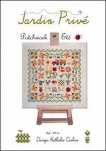 Patchwork Ete cross stitch chart Jardin Prive - $9.00