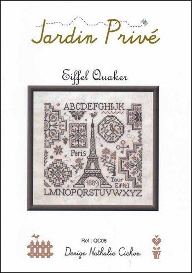 Eiffel quaker cross stitch chart jardin prive cross for Jardin prive