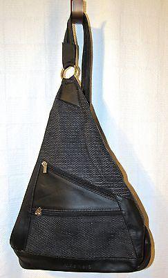 Aldo Nero Genuine Leather Black Sling Bag Purse