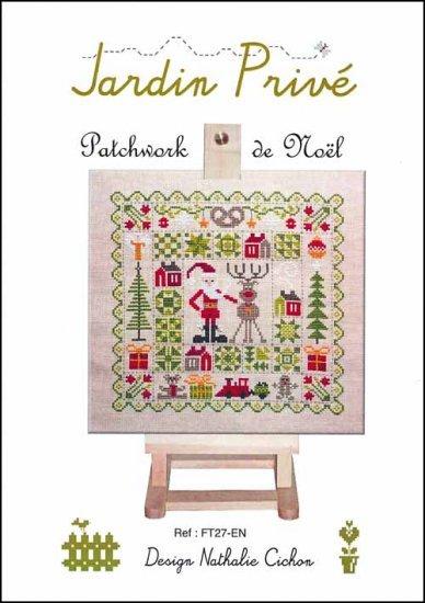 Patchwork de noel cross stitch chart jardin prive cross for Jardin prive