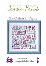 Aux Couleurs De Digoin cross stitch chart Jardin Prive - $9.00