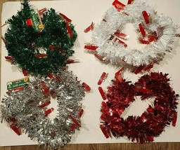 Christmas House Red Truck Tinsel Garland 9 Foot Strand Green, Red, Silve... - $6.00