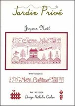 Joyeux Noel cross stitch chart Jardin Prive - $9.00