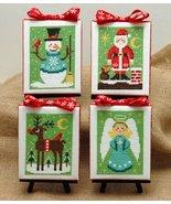 Christmas Cuties 4 designs cross stitch chart Tiny Modernist Inc - $10.80