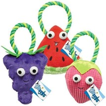 Happy Fruit Plush Rope Toy For Dogs Strawberry Watermelon Grape OR All 3... - £9.20 GBP+