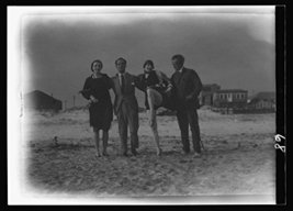 Arnold Genthe and friends in Long Beach, New York [Kitchen] - $12.99