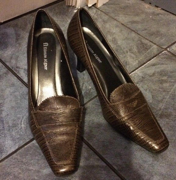 6dd0b9e412 Etienne Aigner 8 1 2 Leather Brown Crocodile and 50 similar items. S l1600