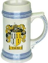 Vanzyl Coat of Arms Stein / Family Crest Tankard Mug - $21.99