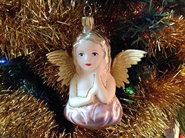 Angel on a Cloud Hand Painted Glass Ornament [Kitchen]