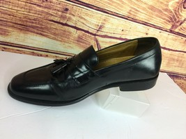 COLE HAAN NikeAir Pinch Tassel Loafers Size 9.5 M Black Leather - $37.15