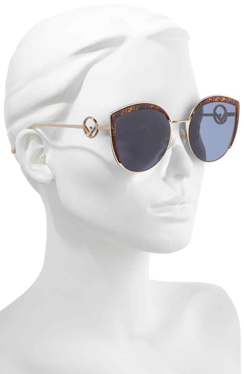 Fendi F is Fendi FF 0290/8 J5G Gold /Blue Butterfly Sunglasses 58mm image 2