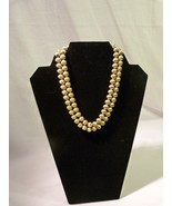 "Monet Beautiful Vintage Signed Double Strand Gold Tone Beaded 16"" Necklace - $25.98"