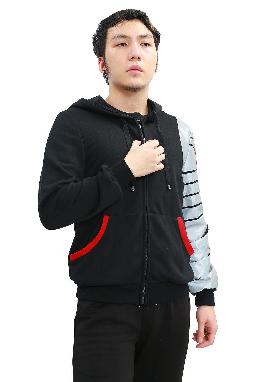 XCOSER Bucky Hoodie Winter Soldier Zipper Jacket Hoodie ...