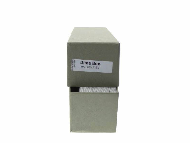 """Guardhouse Green/Dime Coin Storage Box with 100 flips, 2"""" x 2"""" x 8.5"""" image 4"""