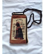Case for Smartphone/Cell Phone Brown Textile in Egyptian Cat Ethnic Sty... - $21.78