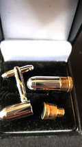 bullet cufflinks with secret department looks brilliant vintage made in 1942   i image 2