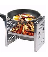 Unigear Wood Burning Camp Stoves Picnic BBQ Cooker/Potable Folding Stain... - $57.98 CAD