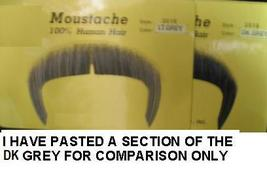 LIGHT GREY GREAT 70'S or ZAPATA HUMAN HAIR MUSTACHE - $10.00
