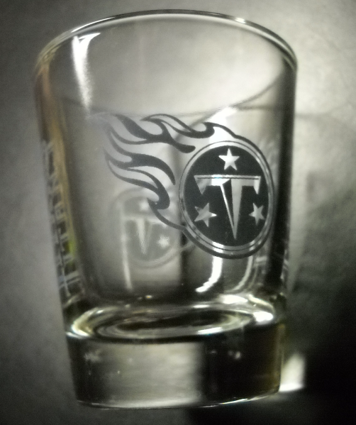 Primary image for Tennessee Titans Shot Glass NFL National Football League Clear with Blue Gray