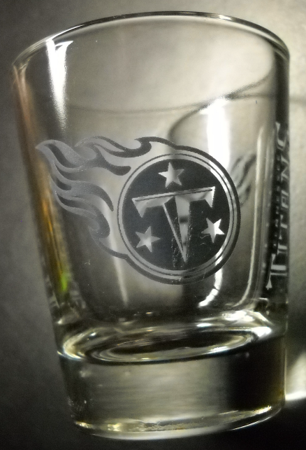 Tennessee Titans Shot Glass NFL National Football League Clear with Blue Gray