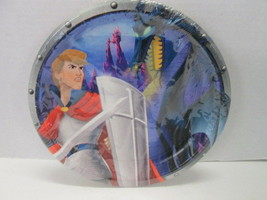 "Disney Sleeping Beauty Prince Phillip 9"" party plates Hallmark 8 ct BRAND NEW! - $4.90"