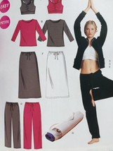 McCalls Sewing Pattern 4261 Misses Jacket Tops Pants Skirt Bag Size 4-14... - $17.46