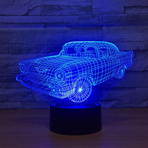 3D Led Home Decor Atmosphere Creative Nightlight Sports Car Modelling De... - $39.99