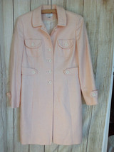 Ann Taylor Loft Long Jacket Plaid Peach Size 8P - $42.62