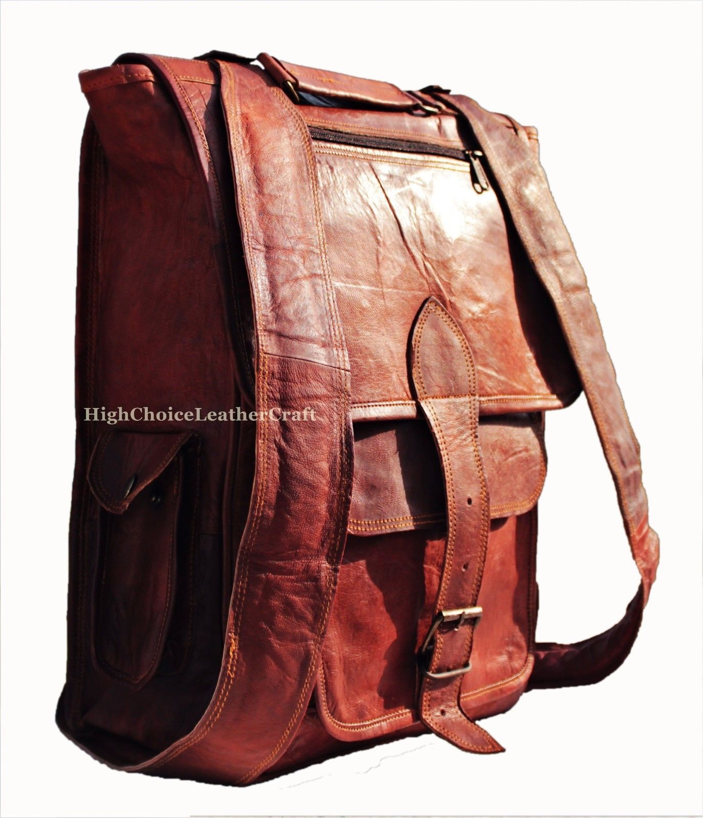 mens women handmade vintage leather backpack rucksack. Black Bedroom Furniture Sets. Home Design Ideas