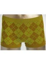 Cotton Blend Argyle Boy Shorts (free size, yellow) - $5.93