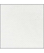 White 20ct Aida 18x21 cross stitch fabric Zweigart - $7.65