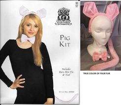 PINK PIG KIT WITH EARS, TAIL AND BOWTIE ONE SIZE FITS MOST - $6.00