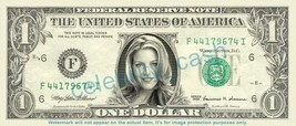 Andrea Parker On Real Dollar Bill Cash Money Bank Note Currency Dinero Celebrity - $4.44